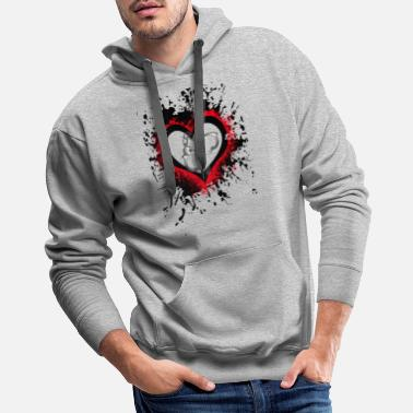 Submissive Love handcuffs - Men's Premium Hoodie