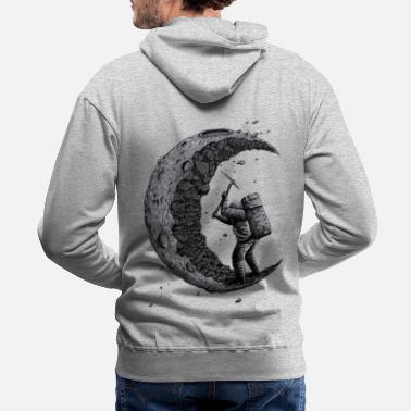 Collections Digging the moon Funny - Men's Premium Hoodie