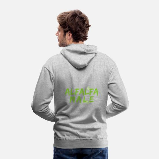 Male Hoodies & Sweatshirts - ALFALFA MALE - Men's Premium Hoodie heather gray