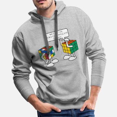 Geek Rubik's Cube Complicate Things - Men's Premium Hoodie