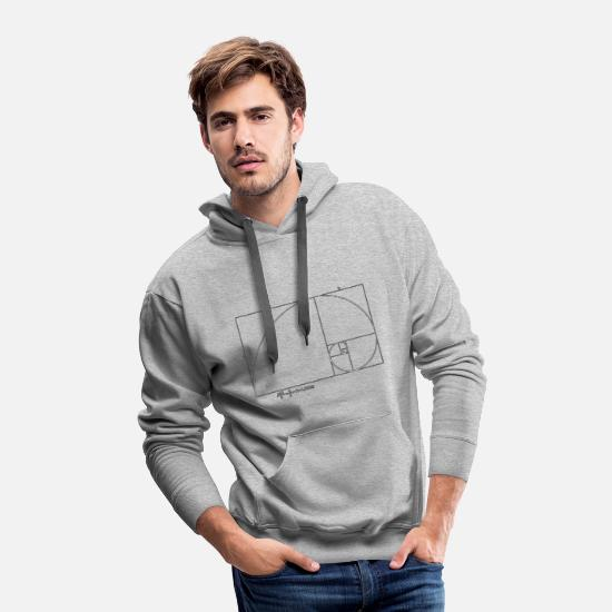 Golden Ratio Hoodies & Sweatshirts - golden ratio fibonacci - Men's Premium Hoodie heather gray