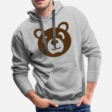 Stuffed Animal bear wild animal stuffed animal - Men's Premium Hoodie