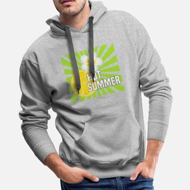 Hot Summer Hot summer, fruits and flowers - Men's Premium Hoodie