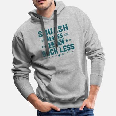 Team Awesome Squash Player Team Life Cute Funny Cool Meme Gifts - Men's Premium Hoodie