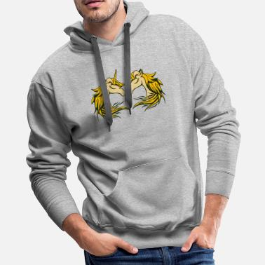 Mythical Creatures TWO UNICORN - Men's Premium Hoodie