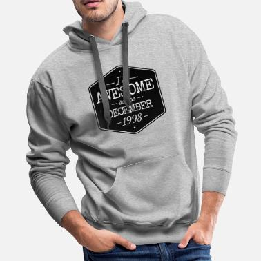 Number AWESOME SINCE DECEMBER 1998 - Men's Premium Hoodie