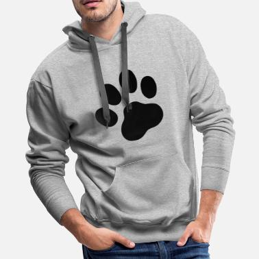 Paw Cool dog paw symbol - Men's Premium Hoodie