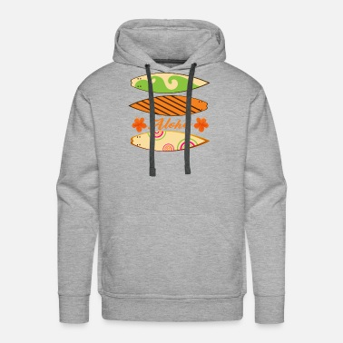 Distressed Retro American Offroad Hawaiian Island Surfing Sweatshirt