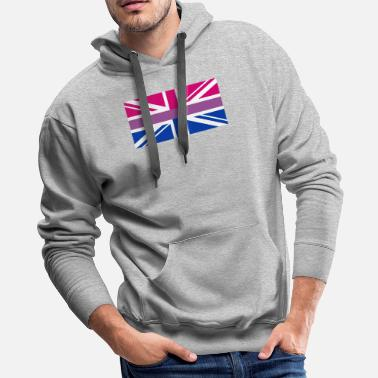 Union Jack Gay Pride LGBT Bisexual Bi GB UK Union Jack Flag - Men's Premium Hoodie