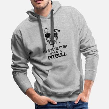 Funny Pitbull Unique Pitbull - Men's Premium Hoodie