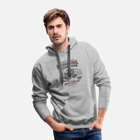 Big Ben Hoodies & Sweatshirts - Big Truck 1 - Men's Premium Hoodie heather gray