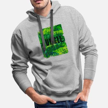 Botanical Jungle with tropical leaves - Men's Premium Hoodie