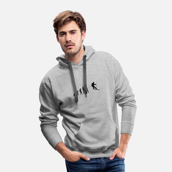 Evolution Hoodies & Sweatshirts - Evolution Skiing - Men's Premium Hoodie heather gray