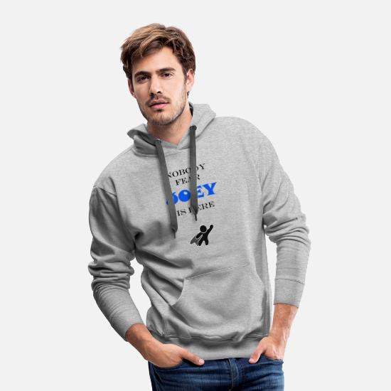 Joey Hoodies & Sweatshirts - NOBODY FEAR JOEY IS HERE - Men's Premium Hoodie heather gray