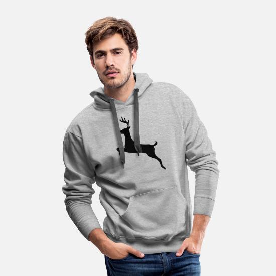 Reindeer Hoodies & Sweatshirts - Rudolph reindeer - Men's Premium Hoodie heather gray
