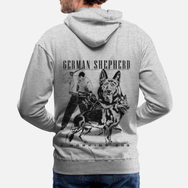 German German Shepherd - a working dog - Men's Premium Hoodie