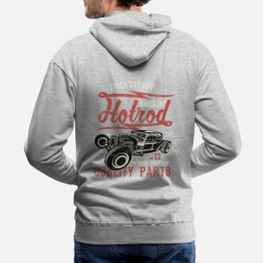 Bikes And Cars Collection Smokin Hotrod - Molleton à capuche premium Homme