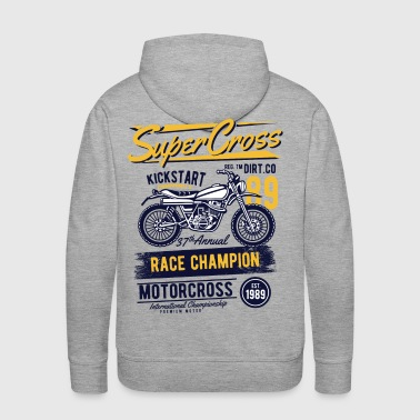 Supercross - Race Champion Motorcross - Men's Premium Hoodie