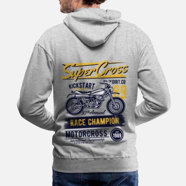 Bikes And Cars Collection Supercross - Race Champion Motorcross - Molleton à capuche premium Homme