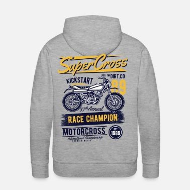 Bikes And Cars Collection Supercross - Race Champion Motorcross - Men's Premium Hoodie