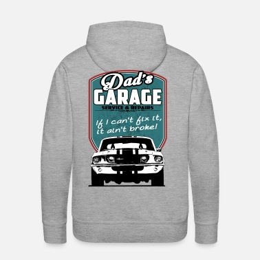 Dad's Garage with 68 Mustang - Men's Premium Hoodie