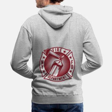 Ny NY Fire Department - Firefighter - Classic - Men's Premium Hoodie