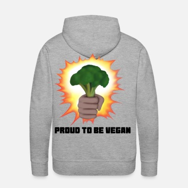 Broccoli Vegan - Proud to be Vegan (Broccoli) - Men's Premium Hoodie