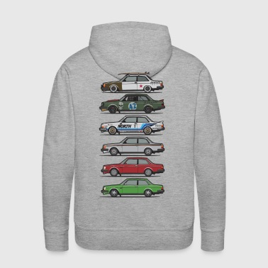 Stack of Volvo 240 Series 242 Brick Coupes - Men's Premium Hoodie