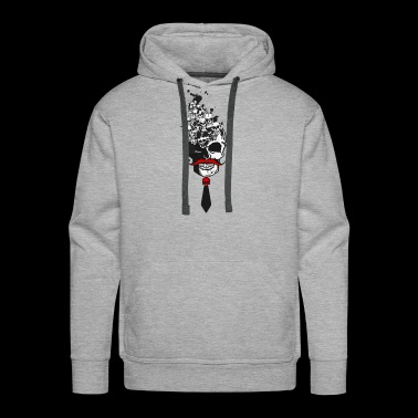 tie multiple skull several - Men's Premium Hoodie