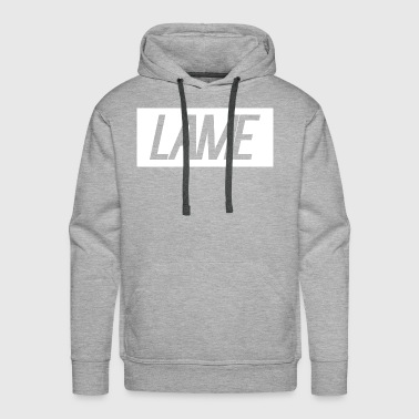 lame/ white rectangle - Men's Premium Hoodie
