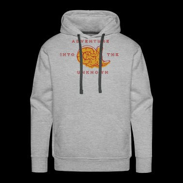 adventure into the unknown vintage style quote - Men's Premium Hoodie