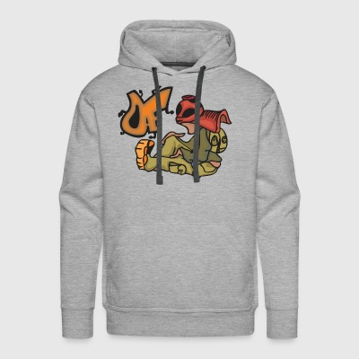 Teen Boy Graffiti - Men's Premium Hoodie