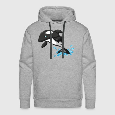 Dolphin grampus killer whale sea animal vector art - Men's Premium Hoodie