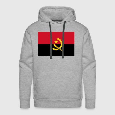 Angola country flag love my land patriot - Men's Premium Hoodie