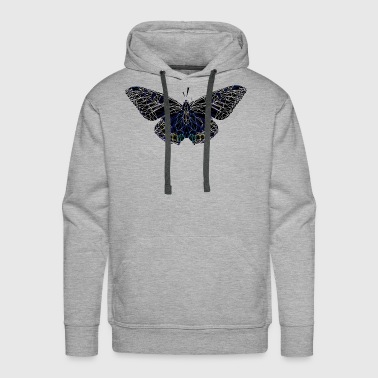 Butterfly Geometry Present Art Design Black - Men's Premium Hoodie