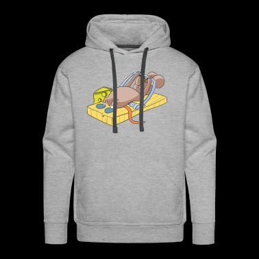 Fitness Mouse Cheese Mousetrap - Men's Premium Hoodie