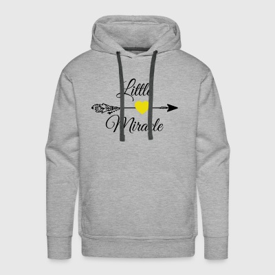 Little miracle Yellow Heart.Baby Gifts. New Baby. - Men's Premium Hoodie