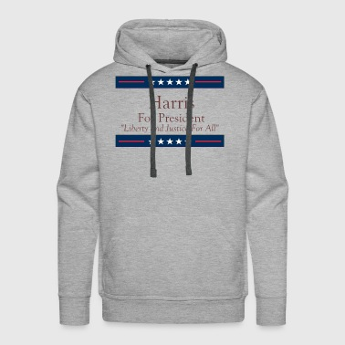 Harris For President - Liberty and Justice For All - Men's Premium Hoodie