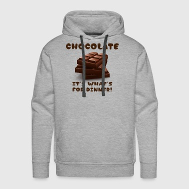chocolate It's what's for dinner - Men's Premium Hoodie