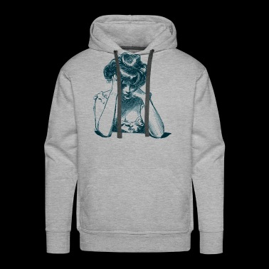 Vintage Sad Woman - Men's Premium Hoodie
