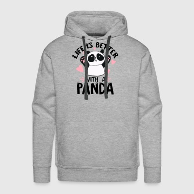 panda bear children kids kindergarden animal gift - Men's Premium Hoodie