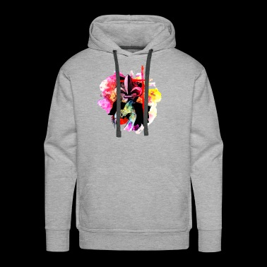 Louisiana watercolor fleur de lis cross crawfish - Men's Premium Hoodie