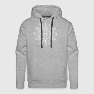 Mandala Mantra Illustration Tattoo Handgezeichnet - Men's Premium Hoodie