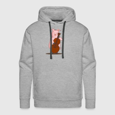 Playing Pig Music - Men's Premium Hoodie