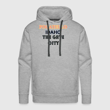 Idaho Pocatello The Gate City - Men's Premium Hoodie