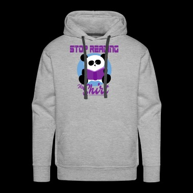 Stop reading my shirt Koala bear with book - Men's Premium Hoodie