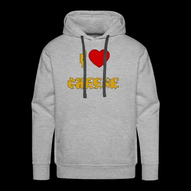 i love cheese i heart cheese - Men's Premium Hoodie