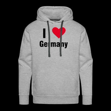 I love Germany shirt gift idea - Men's Premium Hoodie