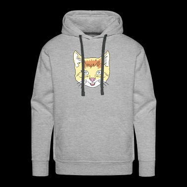 Animal Hipster - Cat - Men's Premium Hoodie