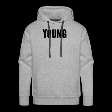 young shirt life-loving fun gift idea - Men's Premium Hoodie